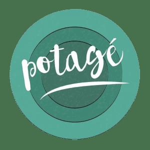 Il logo del Potagé richiama gli anelli della rustica stufa a legna.