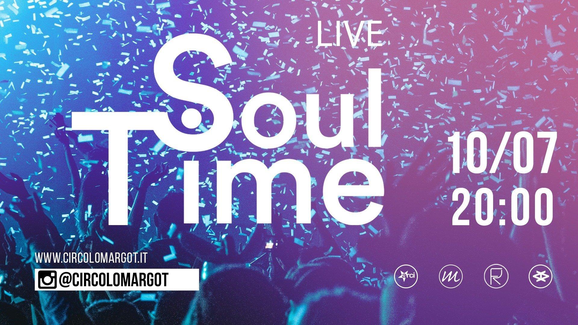 Copertina Concerto live - Soul Time 10 luglio alle ore 20:00
